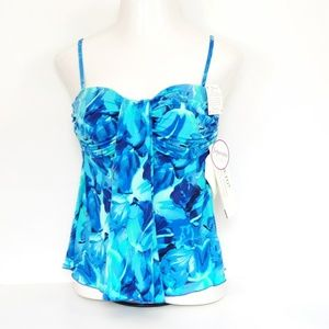 1fe5c9ead A Shore Fit · NWT Blue and Green Tankini Top